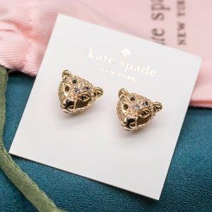 Kate Spade Run Wild Cheetah Stud Earrings